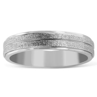 6 MM Shimmer Finish Men's Titanium Ring Wedding Band