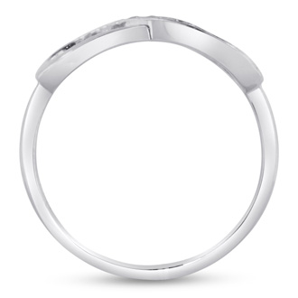 Sterling Silver Infinity Ring With Cubic Zirconia Accents, Available In Ring Sizes 5-8