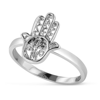 Sterling Silver Hamsa Ring, Available In Ring Sizes 5-8