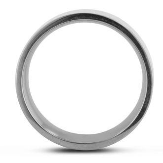 8 MM Polished Flat Top Men's Titanium Ring Wedding Band