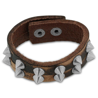 Men's Rockstar Studded Split Strand Leather Bracelet