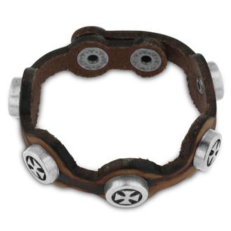 Men's Unique Celtic Cross Leather Bracelet