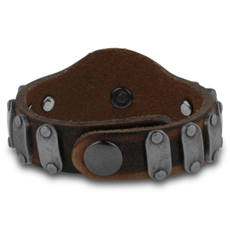 Antique Style Men's Skull Leather Bracelet