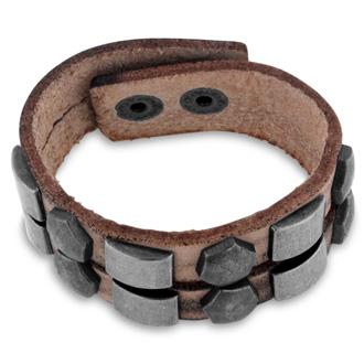 Men's Studded Split Strand Leather Bracelet