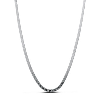 I Love You Engraved Herringbone Chain Necklace. Perfect For Your Loved One, Or Maybe Mom?