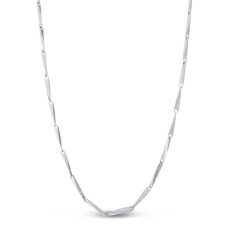 Ladies Stainless Steel Textured Chain Necklace, 24 Inches
