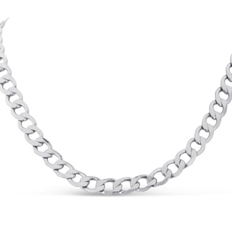 Classic Stainless Steel Curb Chain Necklace.  Major Heavy Chain That Screams Manly!