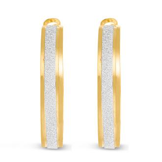 Shimmering Gold Hoop Earrings, 1 Inch. These Amazing Hoop Earrings Will Blow You Away!