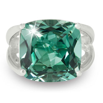 Bold & Modern Statement 12ct Green Amethyst Ring