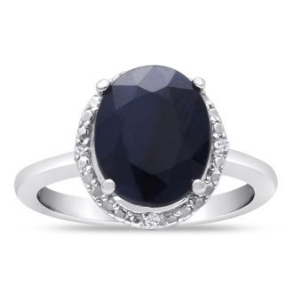 3ct Oval Shape Halo Sapphire and Diamond Ring Crafted In Solid Sterling Silver