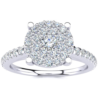 1/2ct Pave Diamond Engagement Ring