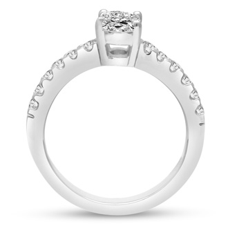 1 1/3ct Oval Diamond Engagement Ring Crafted in 14 Karat White Gold, Also Available in Yellow and Rose Gold