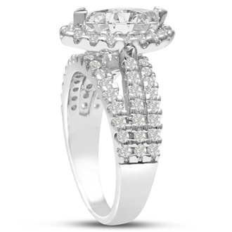 1 2/3ct Marquise Halo Diamond Engagement Ring Crafted in 14 Karat White Gold