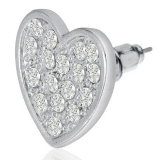 Swarovski Elements Heart Stud Earrings