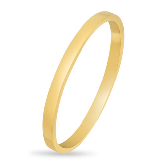 Gold Band Ring Crafted In 14 Karat Yellow Gold Over Sterling Silver