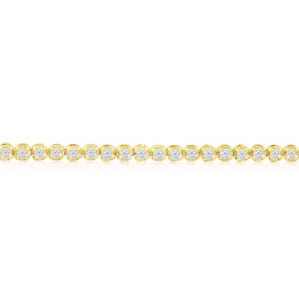 6 Inch, 1.70ct Round Based Diamond Tennis Bracelet in 14k Yellow Gold