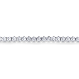 2.56 Carat Diamond Tennis Bracelet In 14 Karat White Gold, 6 Inches