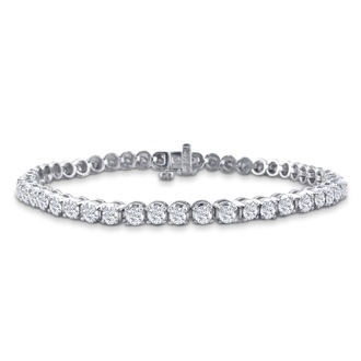 2.79 Carat Diamond Tennis Bracelet In 14 Karat White Gold, 6 1/2 Inches