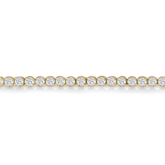 6 Inch, 2.56ct Round Based Diamond Tennis Bracelet in 14k Yellow Gold
