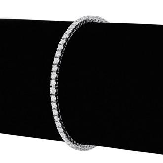 6.5 Inch, 2.79ct Round Based Diamond Tennis Bracelet in 14k White Gold