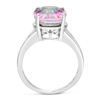 Fantastic Blowout! 5 1/2ct Oval Shape Mystic Topaz Ring Crafted In Solid Sterling Silver