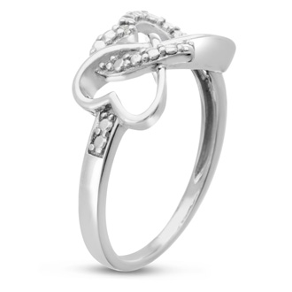 Triple Heart Diamond Infinity Ring