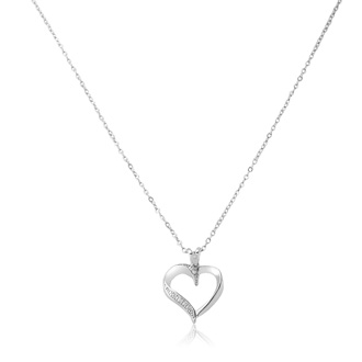 Classic Diamond Heart Necklace