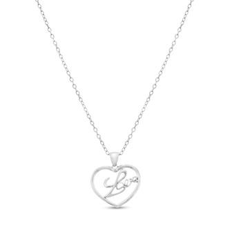 Diamond 'Love' Heart Necklace