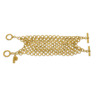 Double Toggle Antique Gold Bracelet