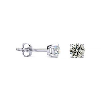 1/2ct Diamond Stud Earrings in 14k White Gold