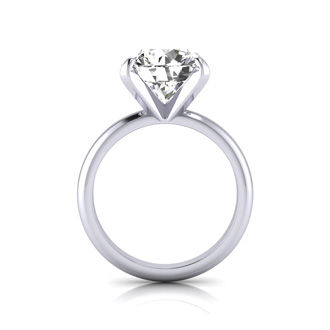 5 Carat Round Cut Diamond Solitaire Engagement Ring In 14K White Gold