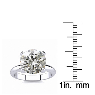 5.03 Carat Round Diamond Solitaire Engagement Ring, H-I Color, I1 Clarity