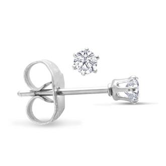 Set Of Five 1/3ct Cubic Zirconia Stud Earrings