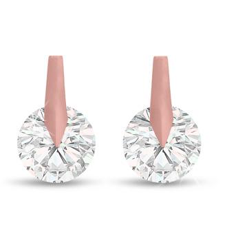 Swarovski Elements Crystal Stud Earrings in Rose