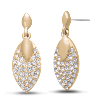 Swarovski Elements Crystal Leaf Earrings