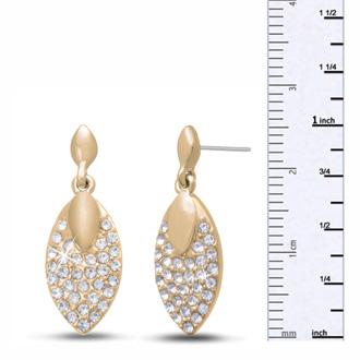 Swarovski Elements Crystal Leaf Earrings