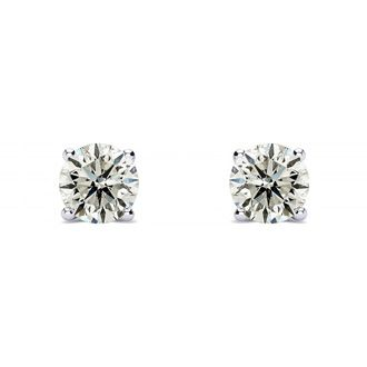 1/5ct Diamond Stud Earrings in 14k White Gold