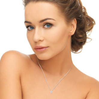 Shimmering Stars Diamond Heart Necklace