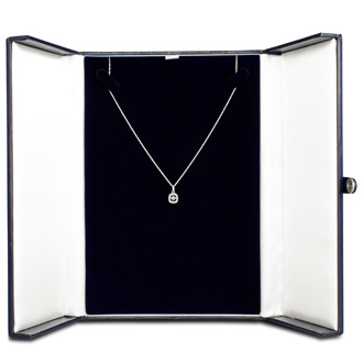 Shimmering Stars Collection .15ct Cushion Diamond Necklace In Sterling Silver, 18 inches, Floating Diamond