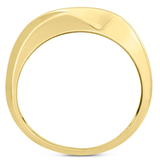 Men's 1/2ct Diamond Ring In 14K Yellow Gold, I-J-K, I1-I2