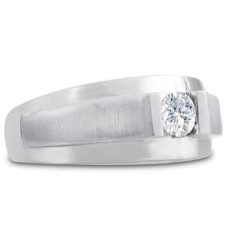 Men's 1/3ct Diamond Wedding Band in 14k White Gold