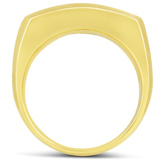 Men's 1ct Diamond Ring In 10K Two-Tone Gold, I-J-K, I1-I2
