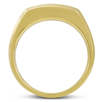 Men's 1/4ct Diamond Ring In 10K Two-Tone Gold, I-J-K, I1-I2