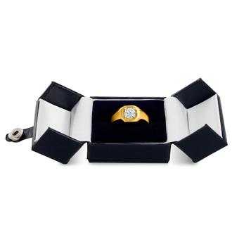 Men's 1ct Diamond Ring In 14K Yellow Gold, G-H, I1-I2