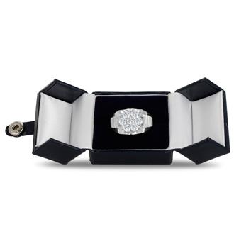 Men's 1 3/4ct Diamond Ring In 10K White Gold, G-H, I2-I3