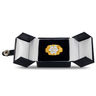 Men's 1 3/4ct Diamond Ring In 14K Yellow Gold, I-J-K, I1-I2