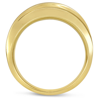 Men's 1ct Diamond Ring In 14K Yellow Gold, G-H, I2-I3