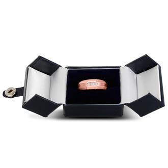 Men's 1/10ct Diamond Ring In 10K Rose Gold, I-J-K, I1-I2