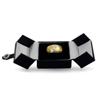 Men's 3/4ct Diamond Ring In 10K Yellow Gold, G-H, I2-I3