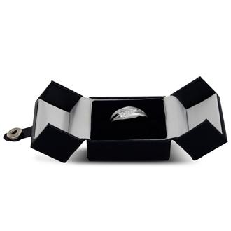 Men's 1/3ct Diamond Ring In 10K White Gold, G-H, I2-I3